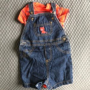 Jean short overall outfit 🦁